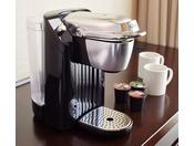 メインタワー35F以上の【プレミアフロア】のお部屋には、コーヒーマシンがございます。