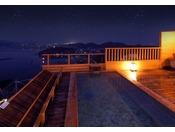 天空露天風呂は、西浦で一番の当館屋上からの景色を皆様に楽しんでいただきたい、というコンセプトで作られました。半島や島々を望み、刻々と表情を変える景色を存分にお楽しみください。