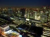 品川駅側の客室からの夜景一例