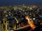羽田空港側の客室からの夜景一例