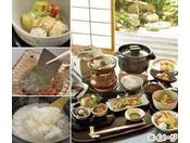 すっぽん小鍋のこだわり朝食6F 京料理「入舟」 - ¥5,000(¥5,775)コラーゲンたっぷりのすっぽん小鍋と厳選素材の京料理、土鍋で炊くコシヒカリなど、こだわりの朝食です。
