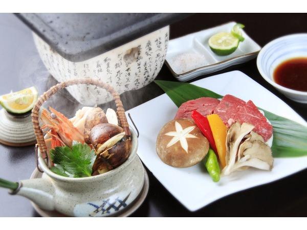 松茸土瓶&ステーキ