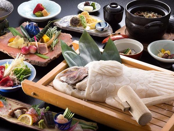 赤穂の名物料理『鯛の塩釜グルメ会席』
