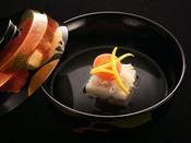 【冬の雅膳】椀物:蟹真丈 清汁仕立