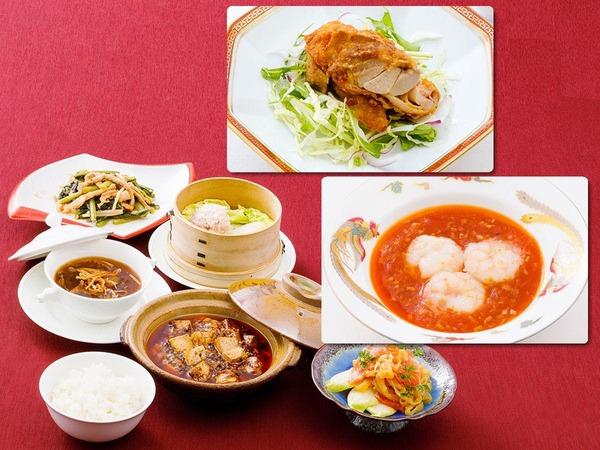 【夕食】信州食材を組み込んだ中華セット