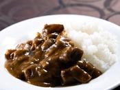 【特製カレー】贅沢にも、長野の和牛「信州牛」を使用しております。