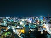 【ホテル最上階から望む長野市街の夜景】