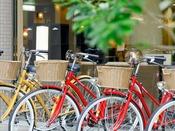 【貸自転車】市内を散策するのに自転車があると便利です。是非貸自転車をご利用ください。