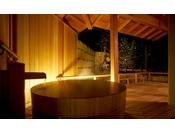 能登渚亭 露天風呂付き客室の一例