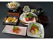 """【12月~】冬の味覚""""河豚・牡蠣""""を堪能できるプチ贅沢なミニ会席。※イメージ ※昼食ご希望の場合は当館へ直接お申込み下さい。0533-57-9111"""