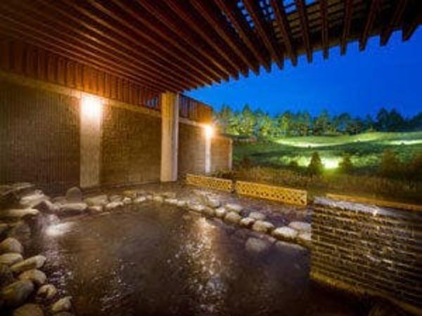 露天風呂からは大自然が見渡せます