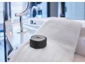 """【エグゼクティブハウス 禅】アメニティ 「墨」をイメージした石鹸バスルームに静かで心地よい落ち着いた香りを広げる石鹸。ホテルのために調香した香りを""""MIDORI""""と名づけました。"""