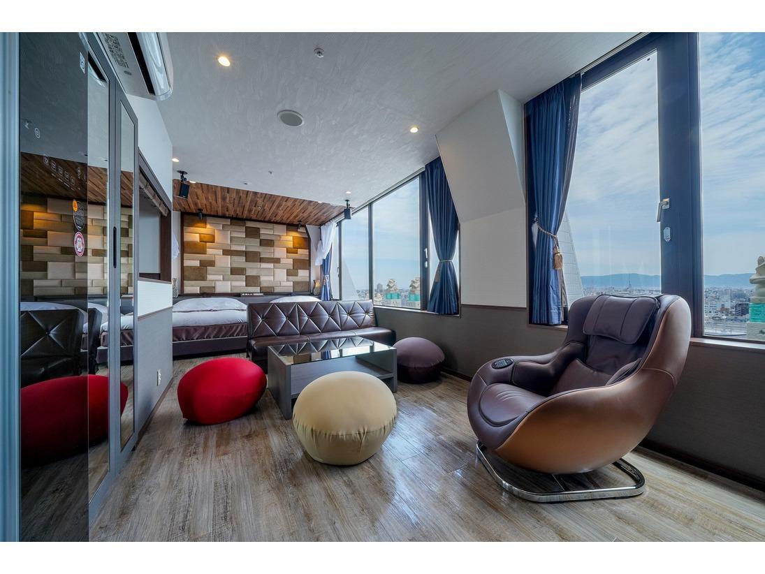 ■《最上階ビュー》ロイヤルツイン/キッチン付 40平米【禁煙】 ミニキッチン付きのお洒落なお部屋です。