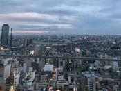 高層階南側夕方の風景