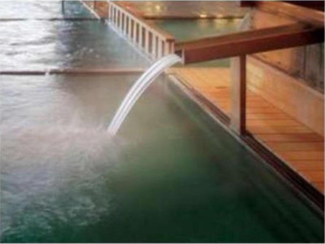 大浴場檜風呂「玉の湯 湯口」~湯を求め、多くの旅人が集う温泉はトロトロの美肌の湯~