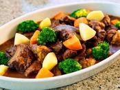 【朝食バイキング】野菜とお肉たっぷりのビーフシチュー