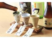 地元竹原・西条の3銘柄の利き酒セット