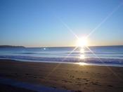 ホテル前の海岸からの景色(冬)