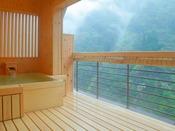 【貴賓室】朝靄の幻想的な風景。
