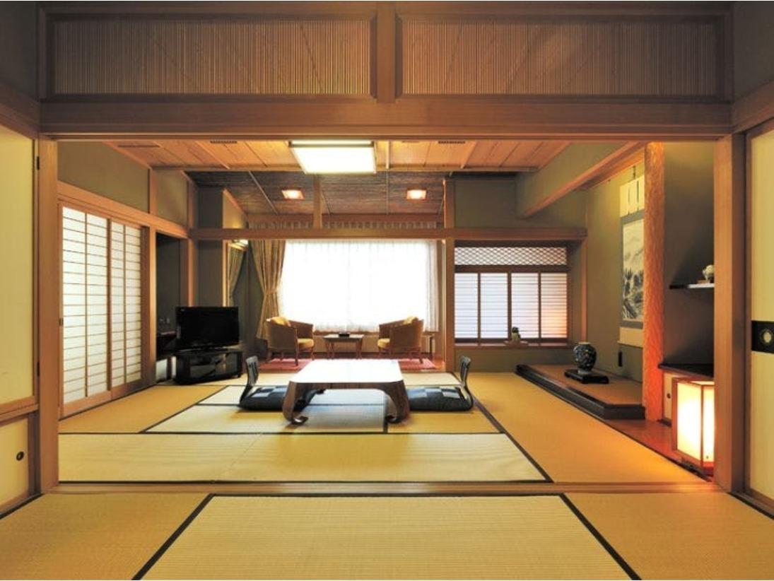 和室10畳+6畳+テラス  バス+トイレ+洗面付 特別室