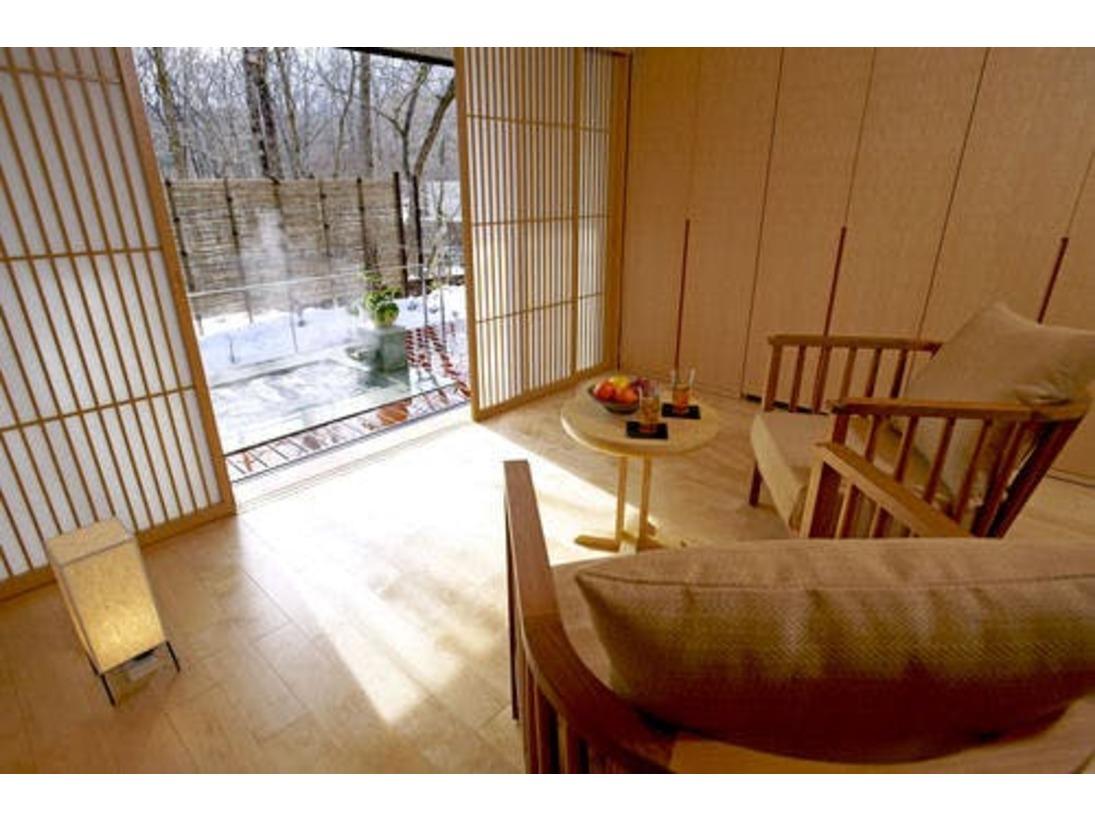 ◆ガーデンスパスイート/テラスには専用の露天風呂をご用意