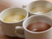 スープ3種(コーンスープ・コンソメ・クリームチャウダー)