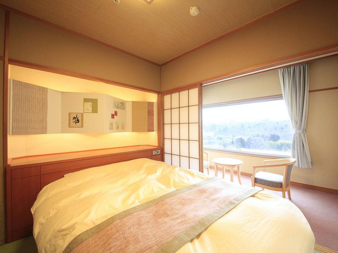 【禁煙】和室10畳+4.5畳+セミダブル1台(一例)