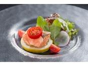 八潮鱒を使用した料理