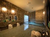 人工温泉大浴場です。15:00~翌2:00まで朝は5:00~10:00までご利用できます。