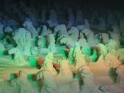 幻想的な樹氷ライトアップ