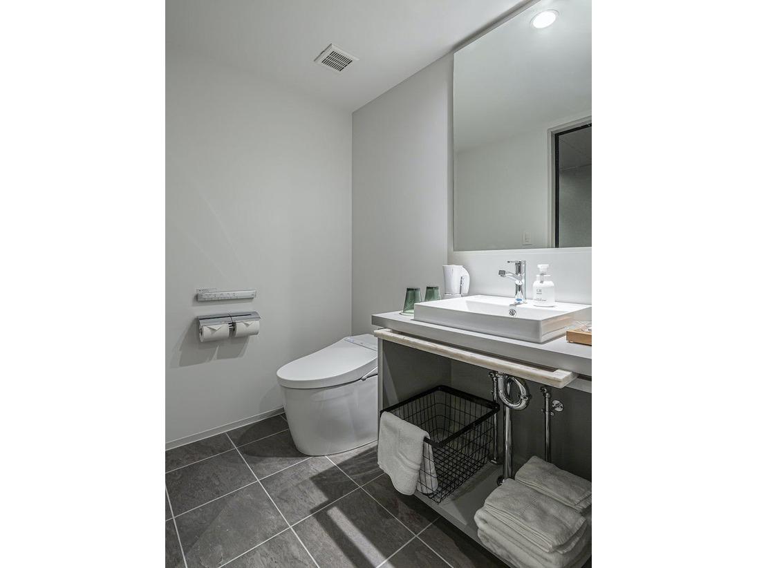 スタンダードダブルの洗面スペース