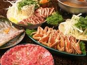 選べる鍋(鯛しゃぶ・牛じゃぶ・カニスキ・鴨鍋)