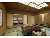 2台のベッドを設置した松風庵若草。