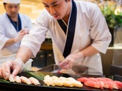 【ライブキッチン】寿司コーナー