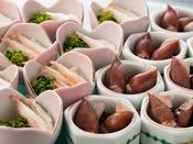 【夕食:白海老・蛍烏賊】※時季により変更