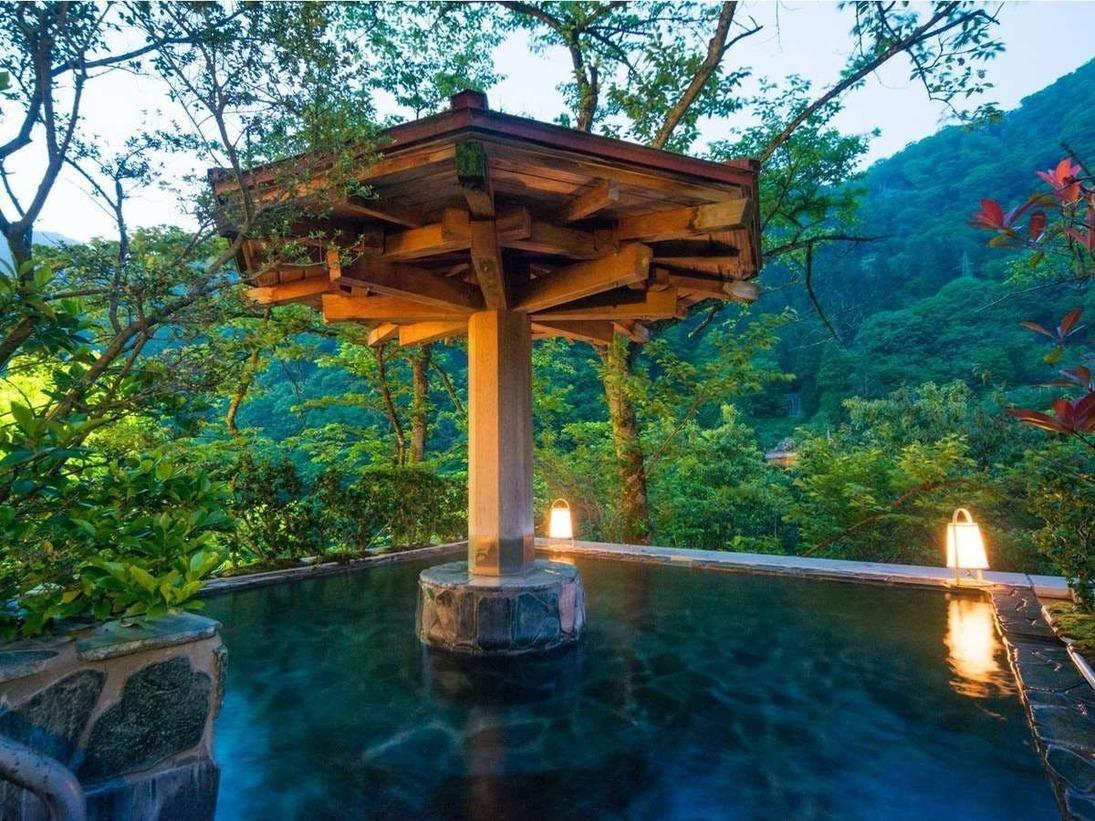 自然の美しい風景に清々しさを感じながら、自慢の露天風呂に浸かれば、どんなストレスだって解消
