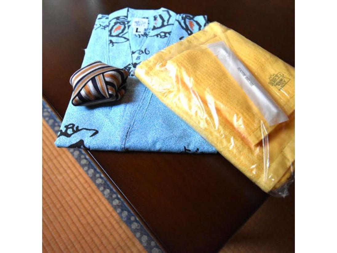 *【アメニティ】浴衣・タオル・歯ブラシはお部屋にご用意。