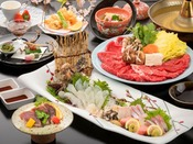 博多の極上魚【虎魚】と和牛日本一の受賞歴がある宮崎牛しゃぶしゃぶ。春の贅沢三昧会席。