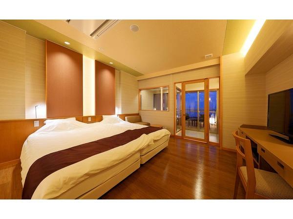 プレミアルーム和洋室のベッドルーム