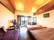 一番人気タイプのお部屋。バリのインテリアで異国情緒たっぷりでございます。