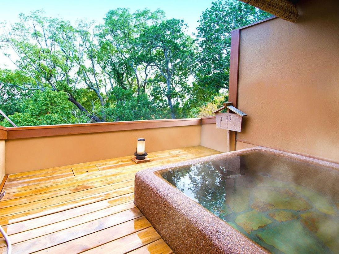 【貸切露天風呂】 お部屋のお風呂以外を楽しみたい方に。東館2階に2箇所ご用意しております