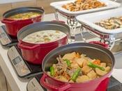 朝食バイキング 20種類以上の野菜をふんだんに使用した温製料理♪
