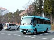 【無料送迎バス運行】ログハウス・ヴィラ2は随時、草津温泉バスターミナル・夜の湯畑・冬季草津国際スキー場は、定期便となっております。