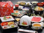 【蔵王膳】ブランド山形牛のすき焼きメインの和食膳です(※イメージ)