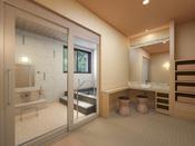 貸切風呂(脱衣所)※3種あり・16~22時まで無料開放
