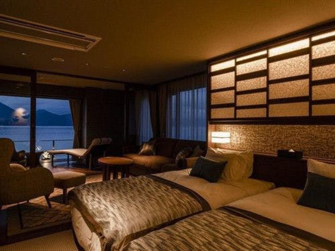 室内51.5平方メートル+テラス9.5平方メートル~雄大な洞爺の自然に抱かれながら、贅沢なリゾートTIMEを~