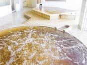 【大浴場 湯楽/2階】ジャグジーにもモール温泉を使用。美肌の湯による、心地よい泡のマッサージ。贅沢な時間が楽しめます。
