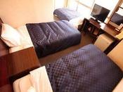 トリプルルーム 97cm幅ベッド2台とソファーベッド1台