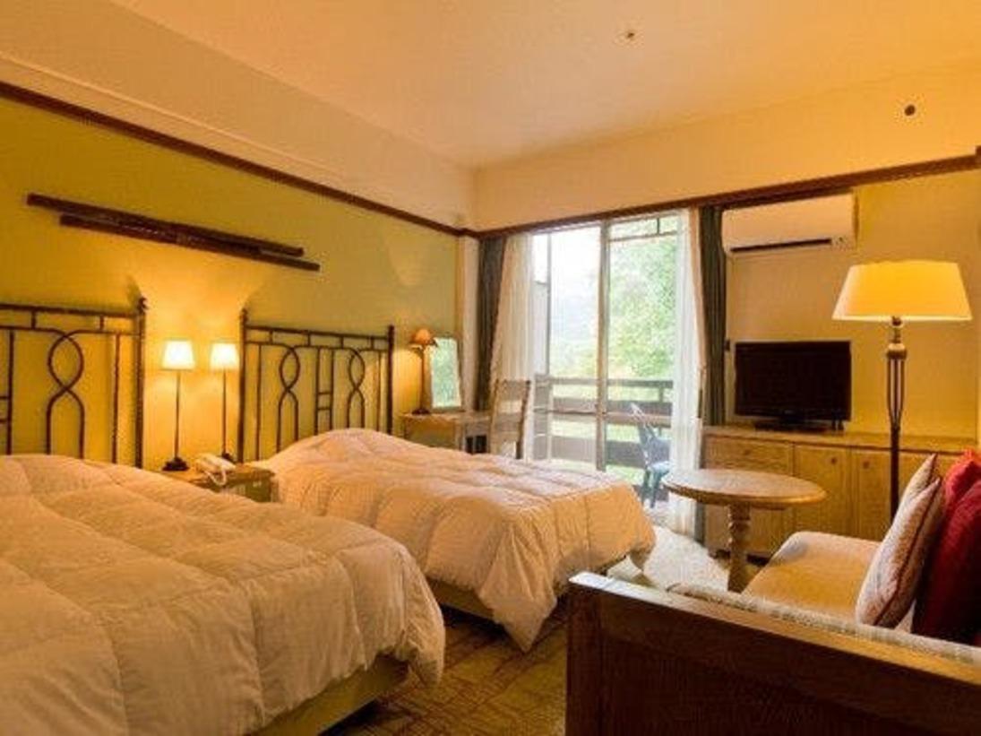 自然豊かな森林に囲まれたお部屋でございます。