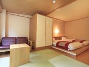 ◆洋室一例【和ベッドルーム】伝統的な和空間とフロアーベッドの和モダンの雰囲気が心地よいお部屋です